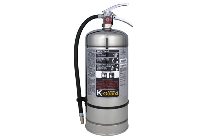 K Fire Extinguisher : Ansul k guard kitchen class fire extinguisher l