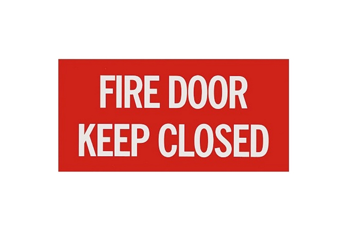 Fire Door Keep Closed Sign 12 Quot X 6 Quot