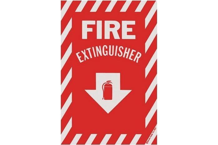 Fire Extinguisher Arrow Sign 8 Quot X 12 Quot